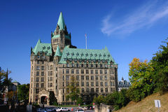 парламент ottawa холма Канады сложный Стоковая Фотография