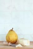 Пармезан и груша, с ножом Стоковое Фото