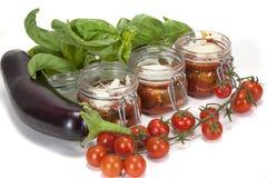 Пармезан и овощи баклажана Стоковые Изображения