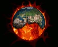 парник влияния Земля, который сгорели каменные угли бесплатная иллюстрация