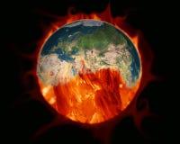 парник влияния Земля, который сгорело сгорание угля Элементы  иллюстрация штока