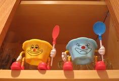 Парни полки кухни Стоковое фото RF