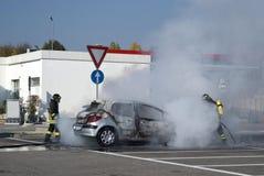 Паровозные машинисты туша пожар автомобиля Стоковое Изображение RF