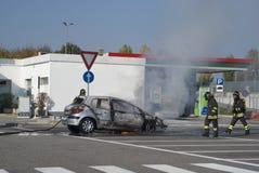 Паровозные машинисты туша пожар автомобиля Стоковые Фото