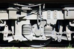 паровоз, конец вверх по колесу Стоковые Фото