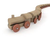 паровоз прибытия деревянный Стоковая Фотография