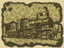 паровоз Иллюстрация вектора