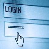 пароль имени пользователя Стоковые Изображения