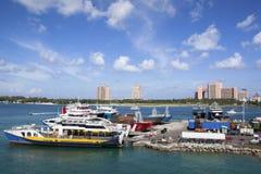 Паромный порт Багамских островов Стоковое Фото