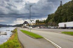 Паромный терминал в Fana вне Бергена Стоковая Фотография RF