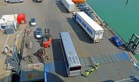 Паромный терминал Hirtshals стоковая фотография rf