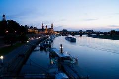 Паромы пара Дрездена стоковая фотография rf