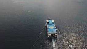 Паром, в море Gilimanuk Бали, Индонезия акции видеоматериалы