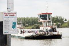 Паром над рекой Waal стоковая фотография rf