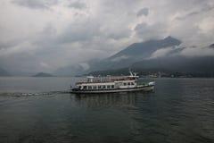 Паром на озере Como, Италии, Bellagio, Tremezzo Стоковые Фото