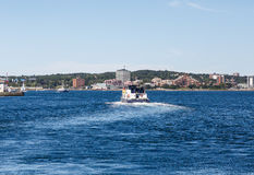 Паром покидая гавань Halifax Стоковое Изображение RF