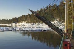 Паром реки стоковое фото rf