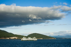 Паром штата Вашингтон в островах Сан-Хуана Стоковое Изображение RF