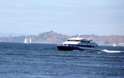 Паром San Francisco Bay, обслуживание пассажирского парома Стоковое Фото