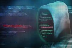 Пароль зашифрования хакера Pixelated от кода интернета безопасного Стоковые Изображения RF