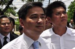 Партийный руководитель Abhisit Vejjajiva Демократ Стоковые Изображения RF