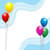 партия воздушных шаров иллюстрация штока