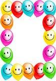 партия граници дня рождения воздушного шара иллюстрация вектора