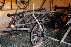 Партия груза в румынском крестьянском музее в Dumbrava Sibiului, Трансильвании Стоковая Фотография RF