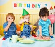 партия девушки мальчиков дня рождения Стоковые Фото