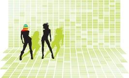 партия девушок диско Стоковые Фотографии RF