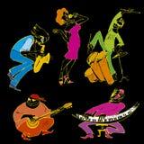 партия джаза иллюстрация вектора