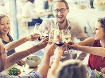 Партия еды еды празднует концепцию события ресторана кафа стоковые фото