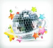 Партия, звезды и шарик диско Стоковая Фотография RF