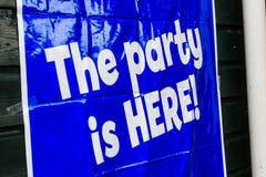 Партия ЗДЕСЬ! Стоковая Фотография RF