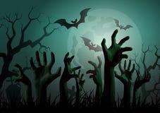 Партия зомби хеллоуина иллюстрация штока
