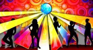 партия иллюстрации 2 танцек Стоковое Изображение RF