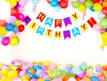 партия интерьера дня рождения Стоковое Изображение RF