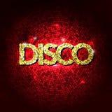 Партия диско освещает предпосылку золота Горячая предпосылка танца Вектор танцплощадки Танцплощадка диско Плакат диско танцулька иллюстрация штока
