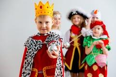 Партия костюма детей стоковые изображения