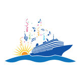 партия логоса круиза иллюстрация вектора
