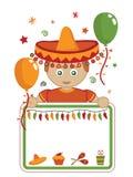 партия мексиканца карточки иллюстрация вектора