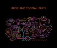 Партия музыки и коктеиля бесплатная иллюстрация