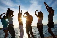 Партия на пляже Стоковое Изображение RF