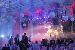 Партия Новогодней ночи на дворце парламента стоковая фотография