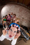 партия нот диско 1970s Стоковое Фото