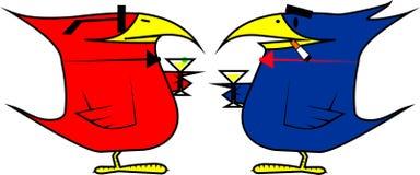 партия пар коктеила птиц Стоковое фото RF