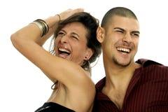 партия пар счастливая Стоковая Фотография