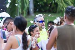Партия пены в Панаме Стоковые Изображения RF