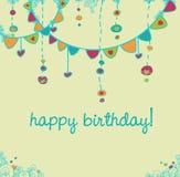 партия поздравительой открытки ко дню рождения счастливая Стоковая Фотография RF