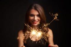 Партия, праздники, Новый Год или рождество и концепция торжества стоковые изображения rf